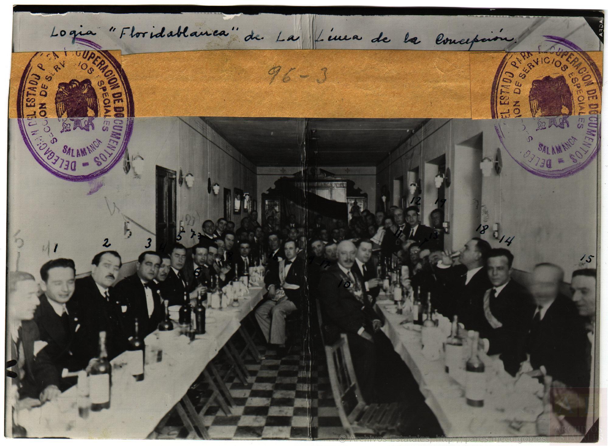Logia Floridablanca, Línea de la Concepción