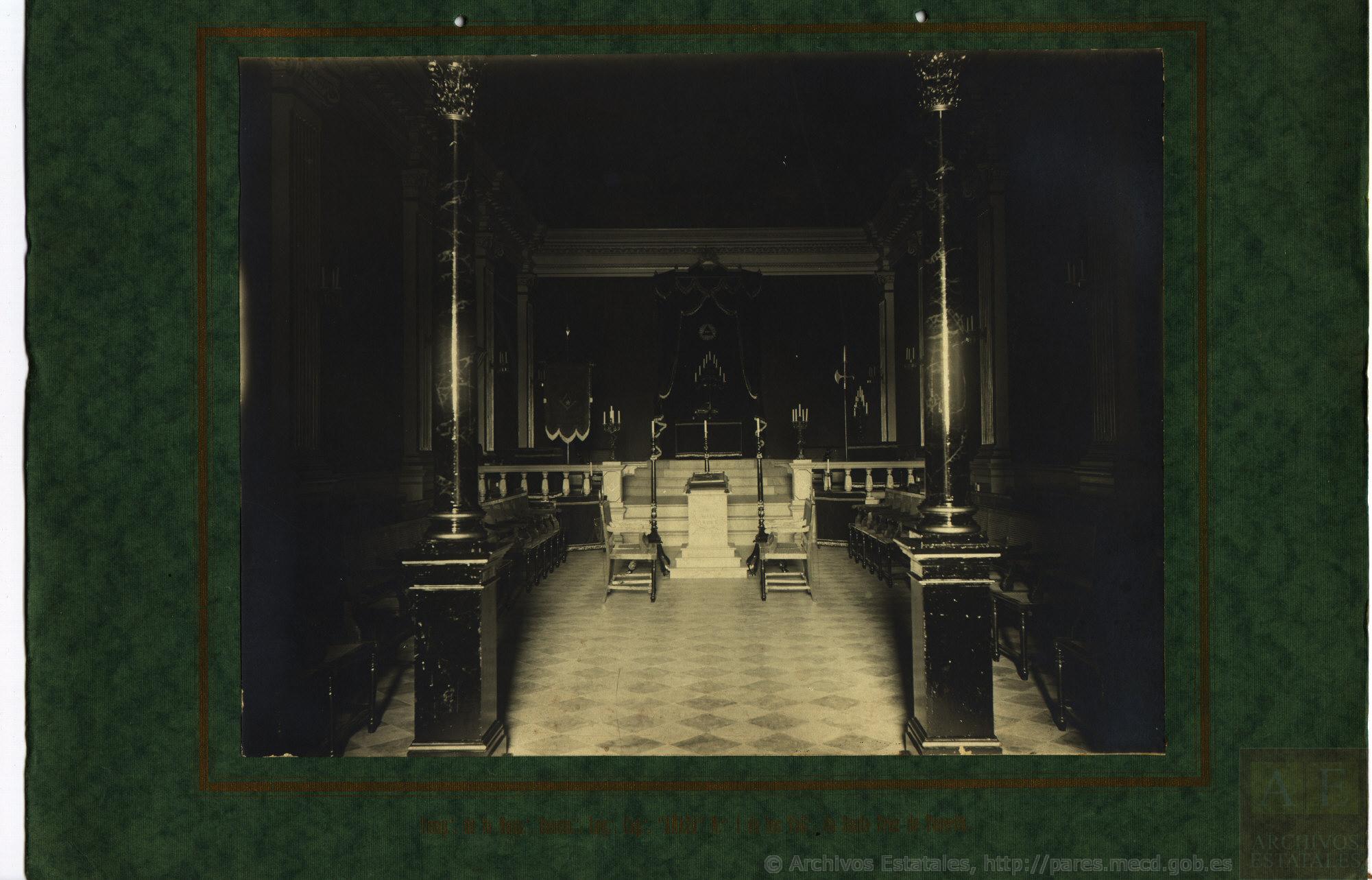 Interior del templo de la Logia de Añaza, Tenerife