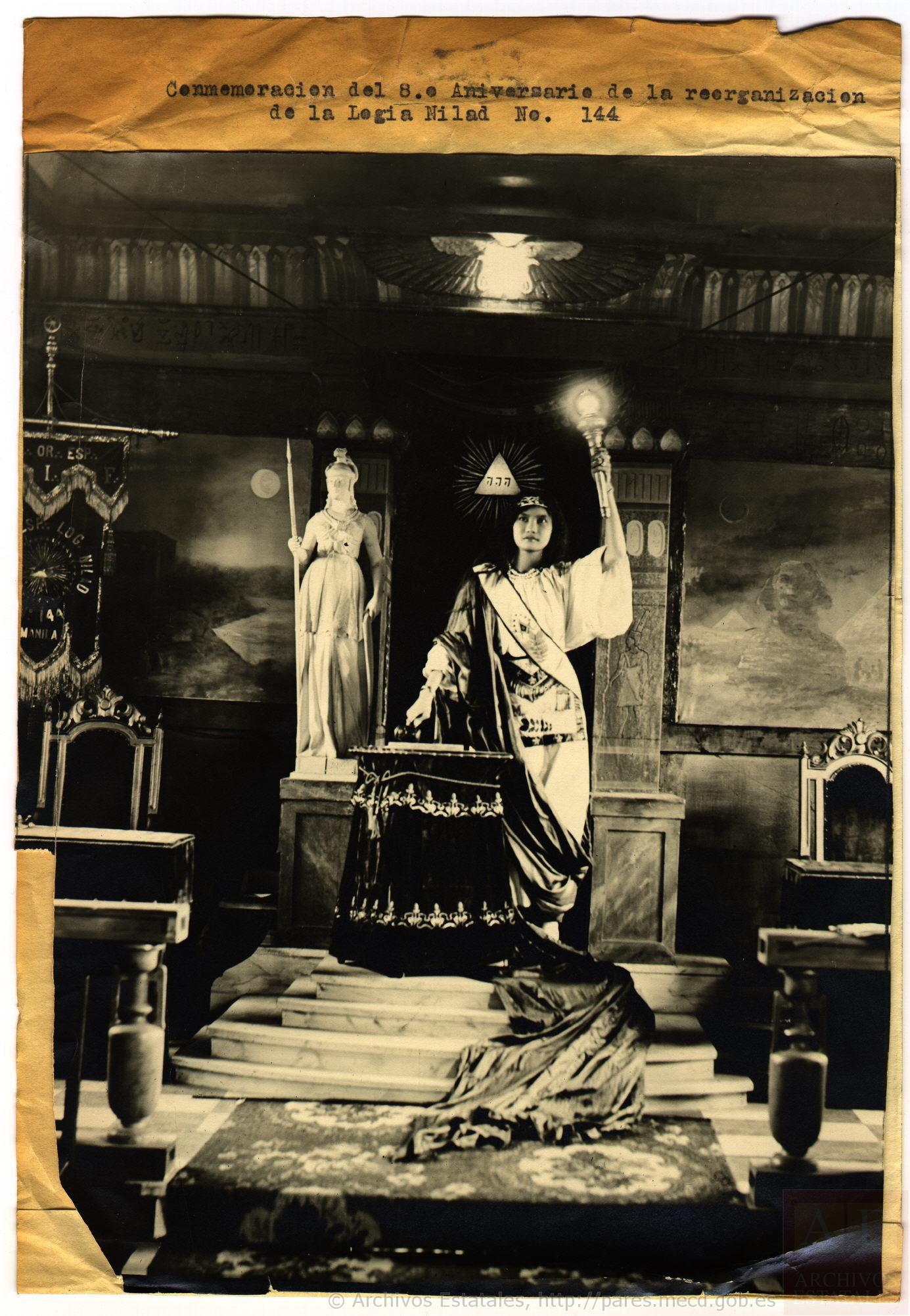 Logia Nilad nº144. Alegoría de la masonería