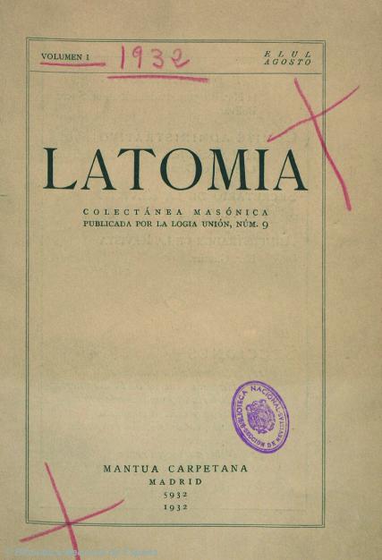 Portada de  Latomia  (1932) donde Hildegart da cuenta de la conferencia de Bergson