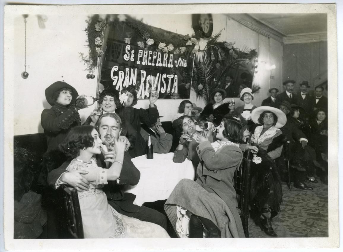 Cabaret La Gran Penya en enero de 1912. FOTOGRAFÍA DE FREDERIC Ballell Maymí
