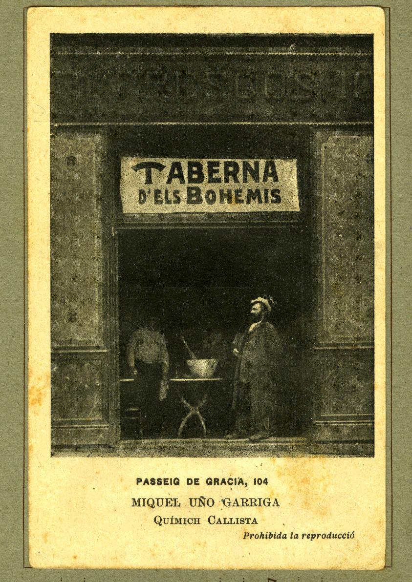 """La bohemia, los bares y el """"mal"""" vivir: *Taberna de los Bohemios* (Barcelona, 1918). Fotografía: Arxiu Municipal de Barcelona"""
