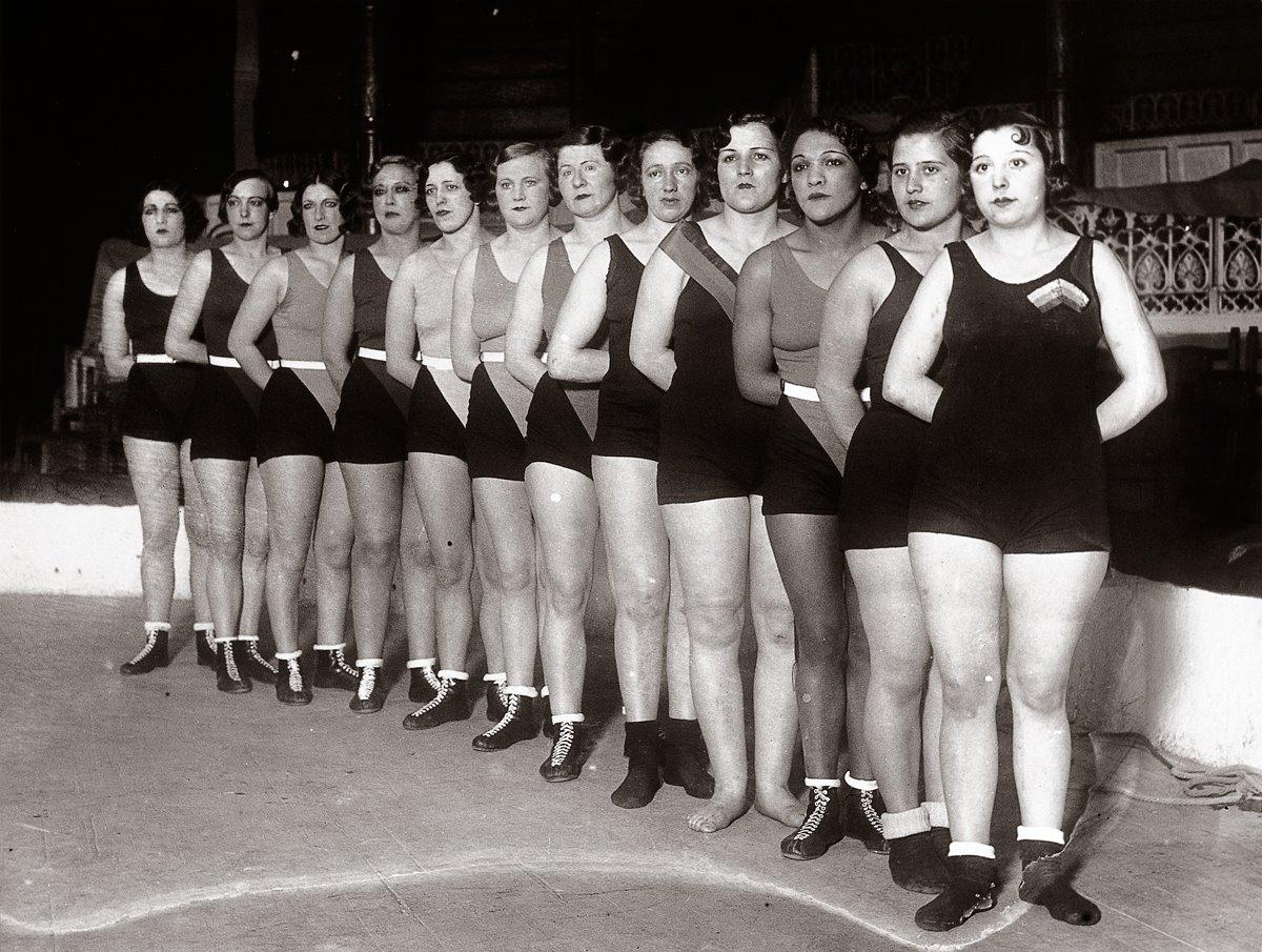 las legendarias *Luchadoras del Circo Price* (1920). Fotografía: Alfonso