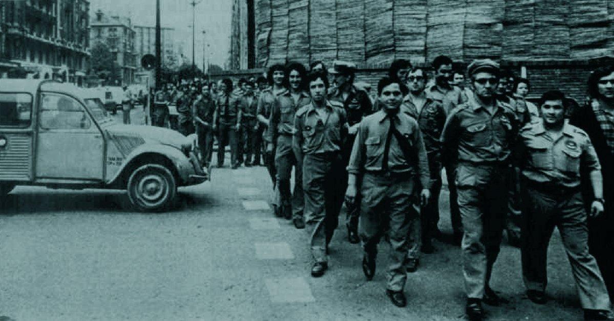 Carteros (uniformados) en huelga (Barcelona, julio de 1976)