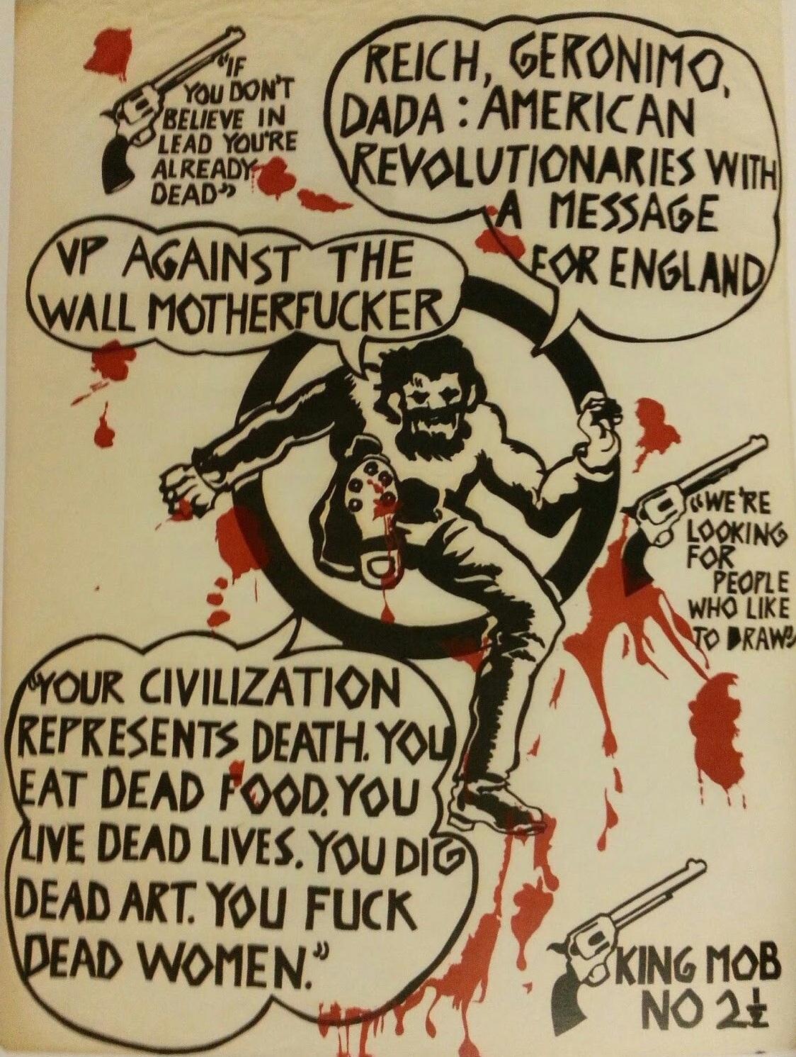 Cartel de King Mob ( King Mob Echo , número 2, 1967)