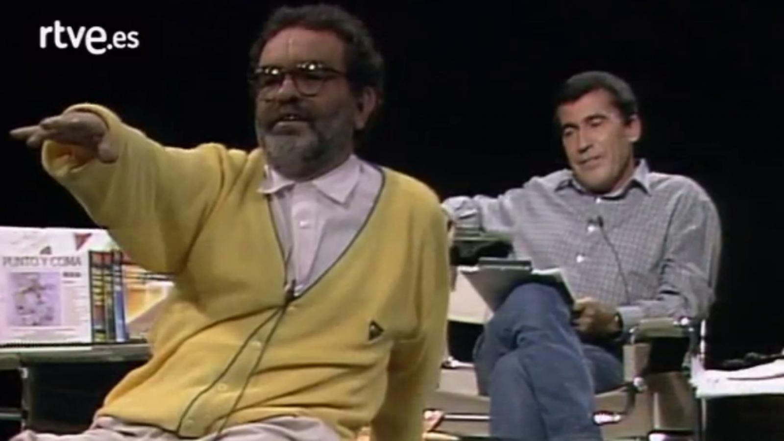 Arrabal durante su famosa intervención en el programa de Sánchez Dragó dedicado al apocalipsis (5 de octubre de 1989)