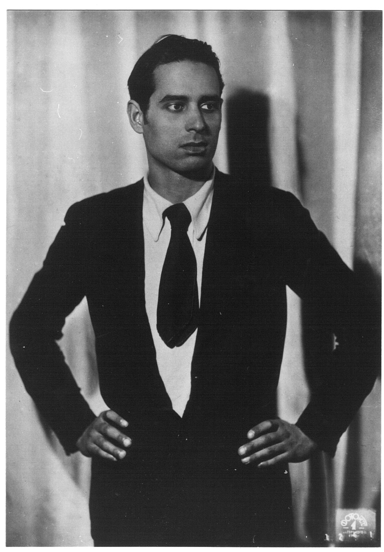 Retrato de Helios Gómez, años treinta