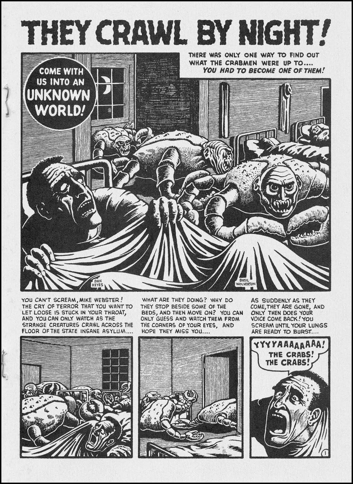 Trabajos de Wolverton para la prensa undeground estadounidense