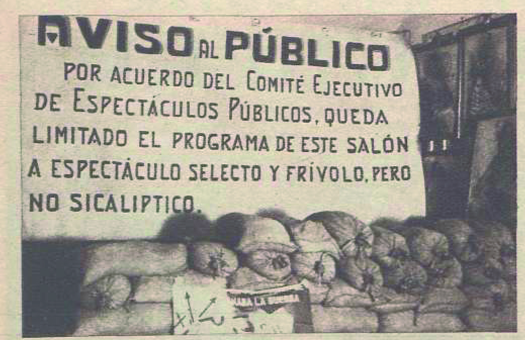 Cartel contra la «sicalípsis» y el arte «frívolo» (Valencia, diciembre de 1936)