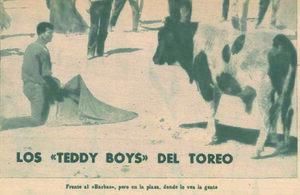 Maletillas y «teddy-boys» ( El Ruedo , 28 de febrero de 1964)