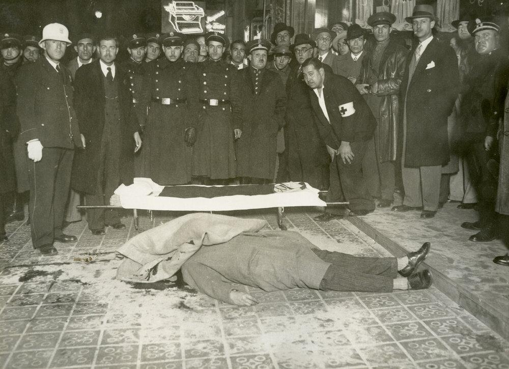 Asesinato de Manuel Vilà Marquès (1934). Fotografía: Carlos Pérez de Rozas / Arxiu Municipal de Barcelona