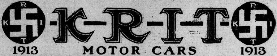 La K-R-I-T Motor Car Company, que usaba una esvástica en su logo, fue una fábrica de automóviles de Detriot que funcionó entre 1909–y 1916