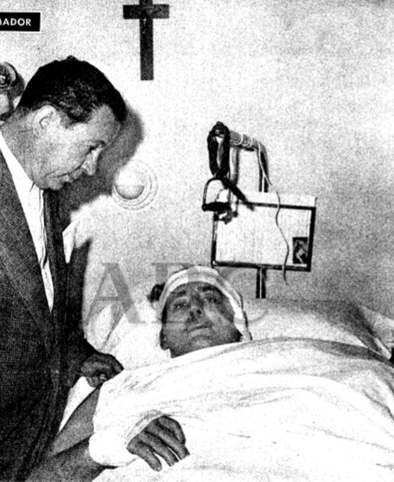 El Capitán King se recupera en el hospital de sus graves heridas. Fotografía:  ABC
