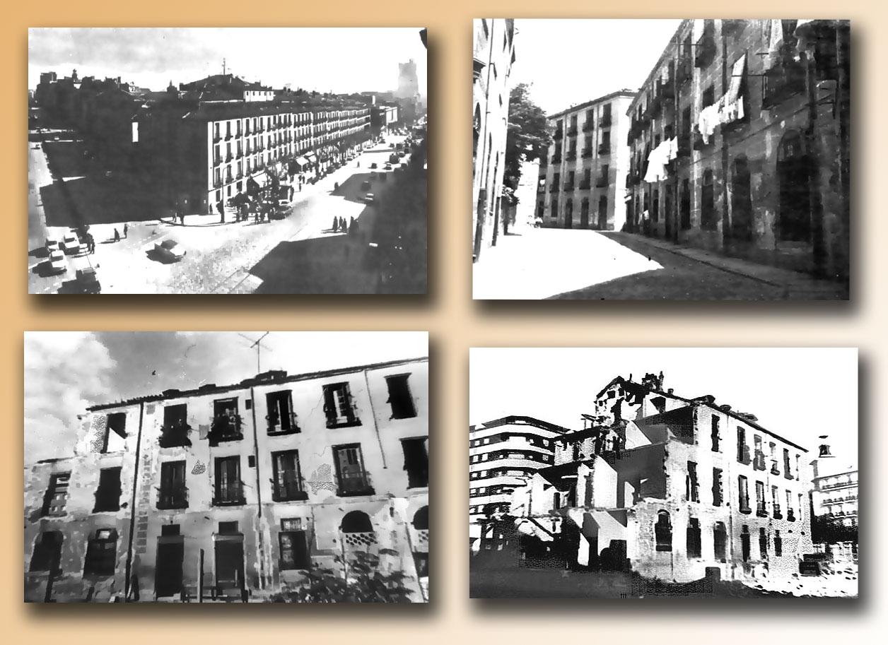 Distintas imágenes del desaparecido barrio de Pozas. Fotografía: Historias Matritenses
