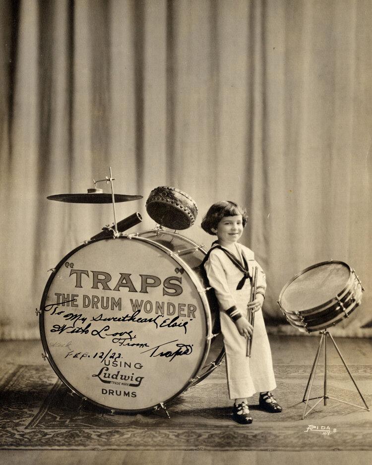 Buddy Rich a los seis años en una fotografía promocional. (Foro: Rex Strother / Mick James Jazz).