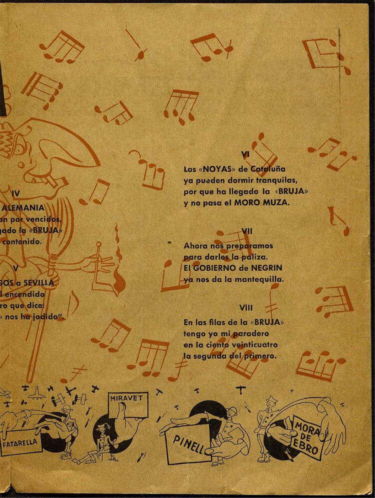 Cancionero de La Bruja ( La Bruja  nº1, agosto de 1938)