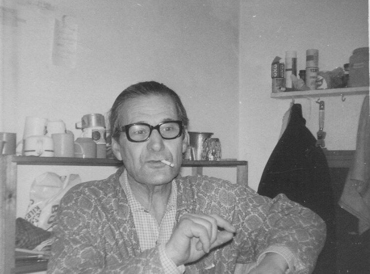 Miguel García en la cocina del Centro Ibérico (1975). Colección de Phil Ruff
