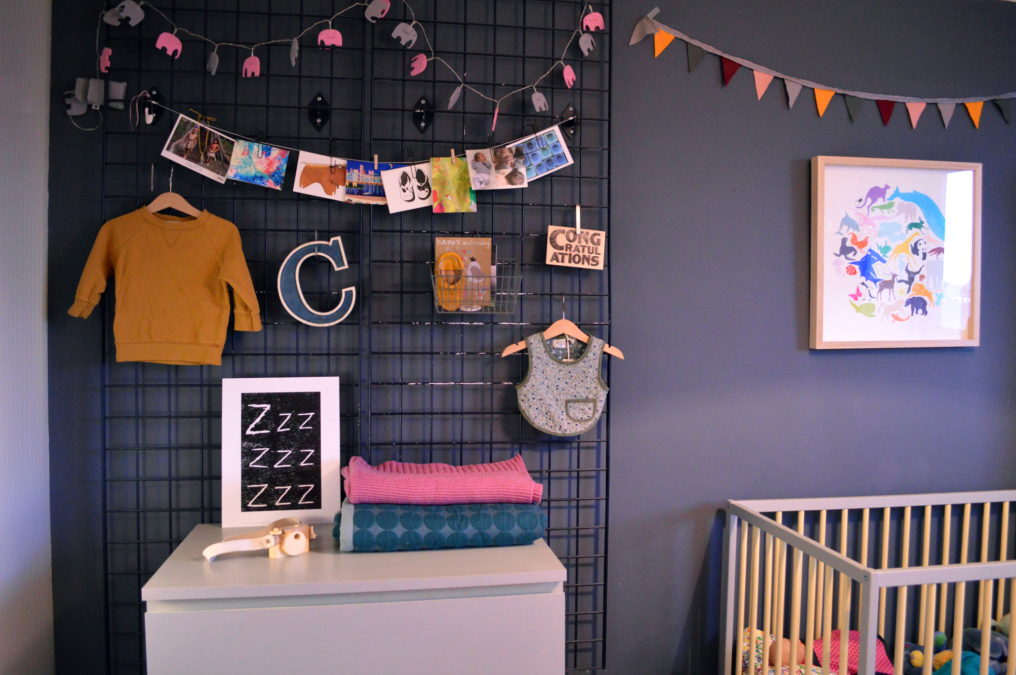 An eclectic mix of Bon Tot clothing, gifts and handmade objects decorate Clemence's room