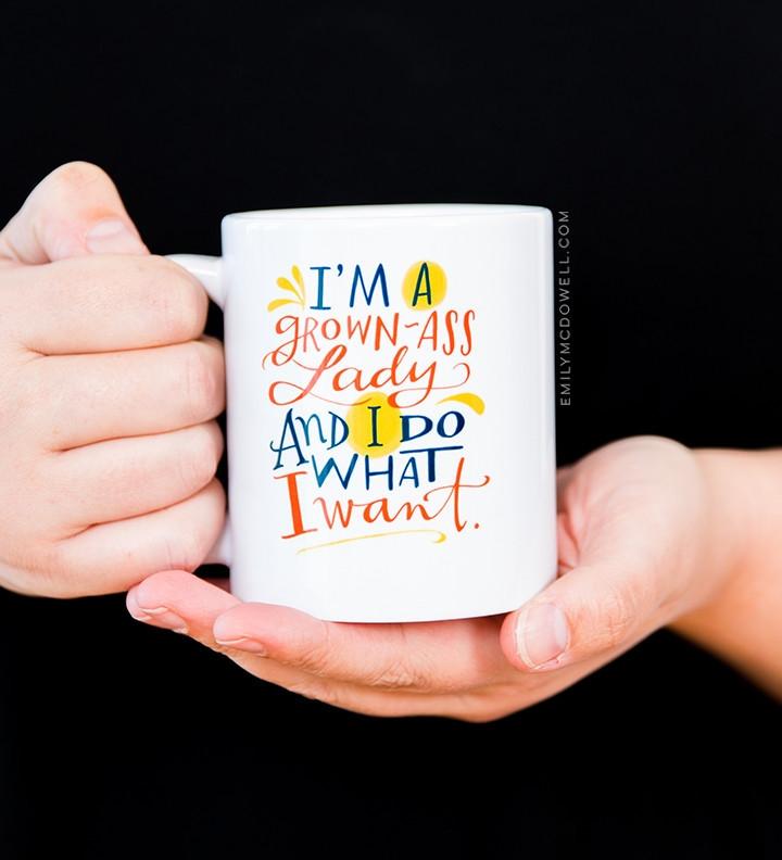 2) Mug from Emily McDowell Studio