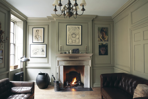 Farrow & Ball French Grey on skirtings, shutters and walls