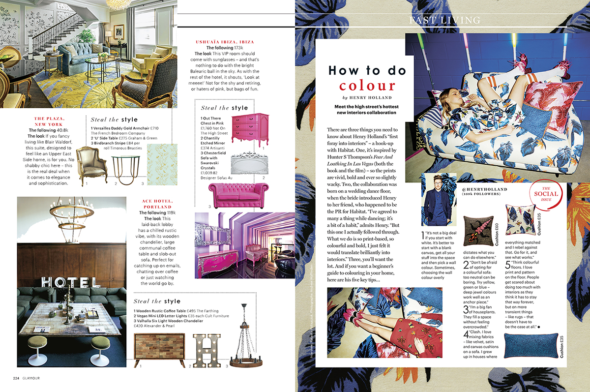 Glamour magazine Hotel Style Steal feature by Emily Murray
