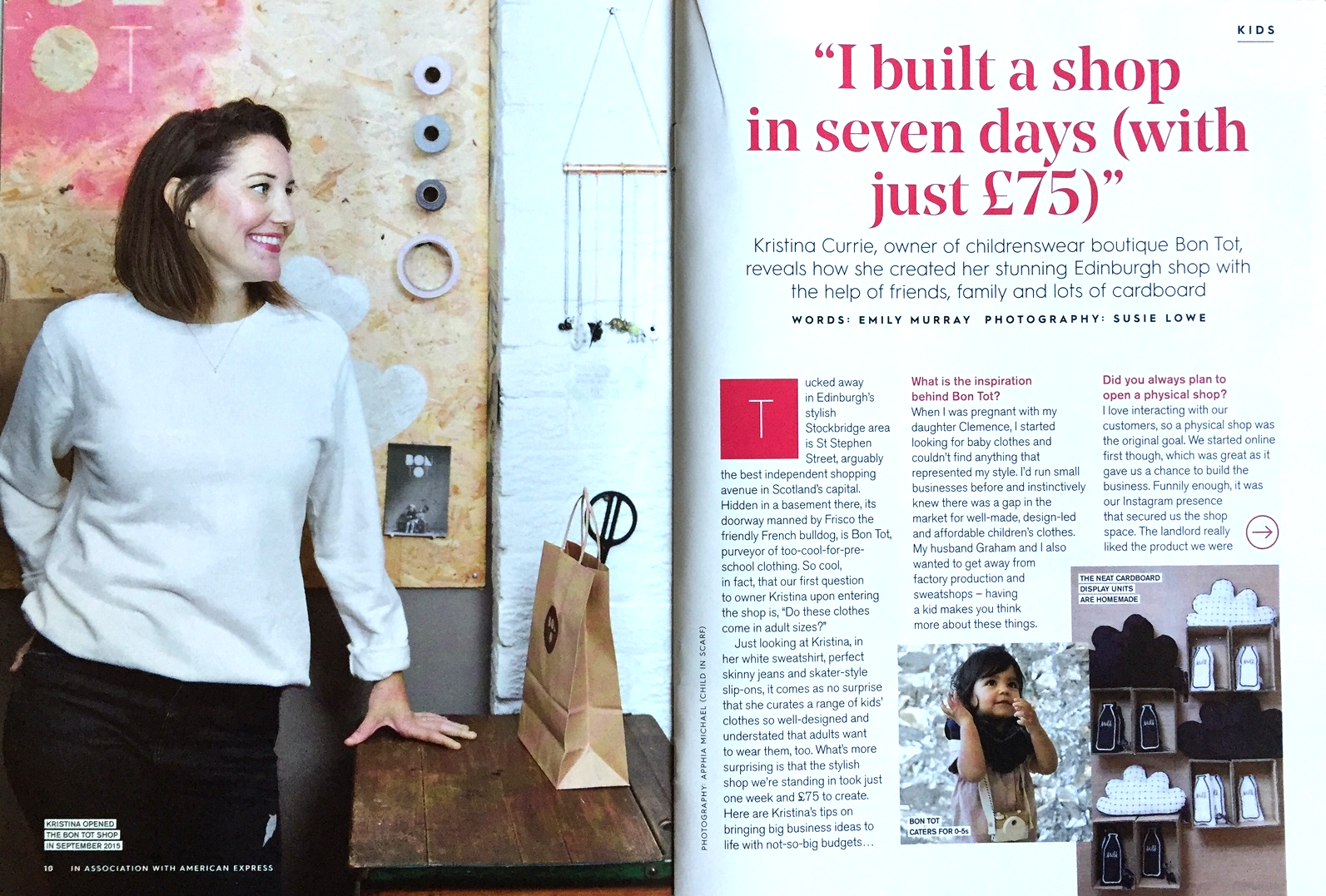 Bon Tot in Stylist magazine by Emily Murray and Susie Lowe