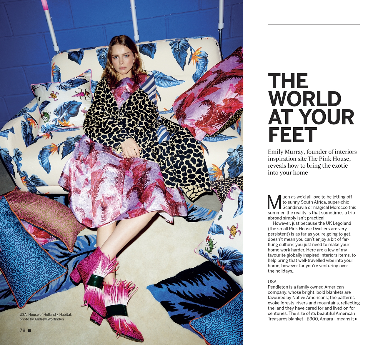 Emily Murray from The Pink House i-on magazine feature
