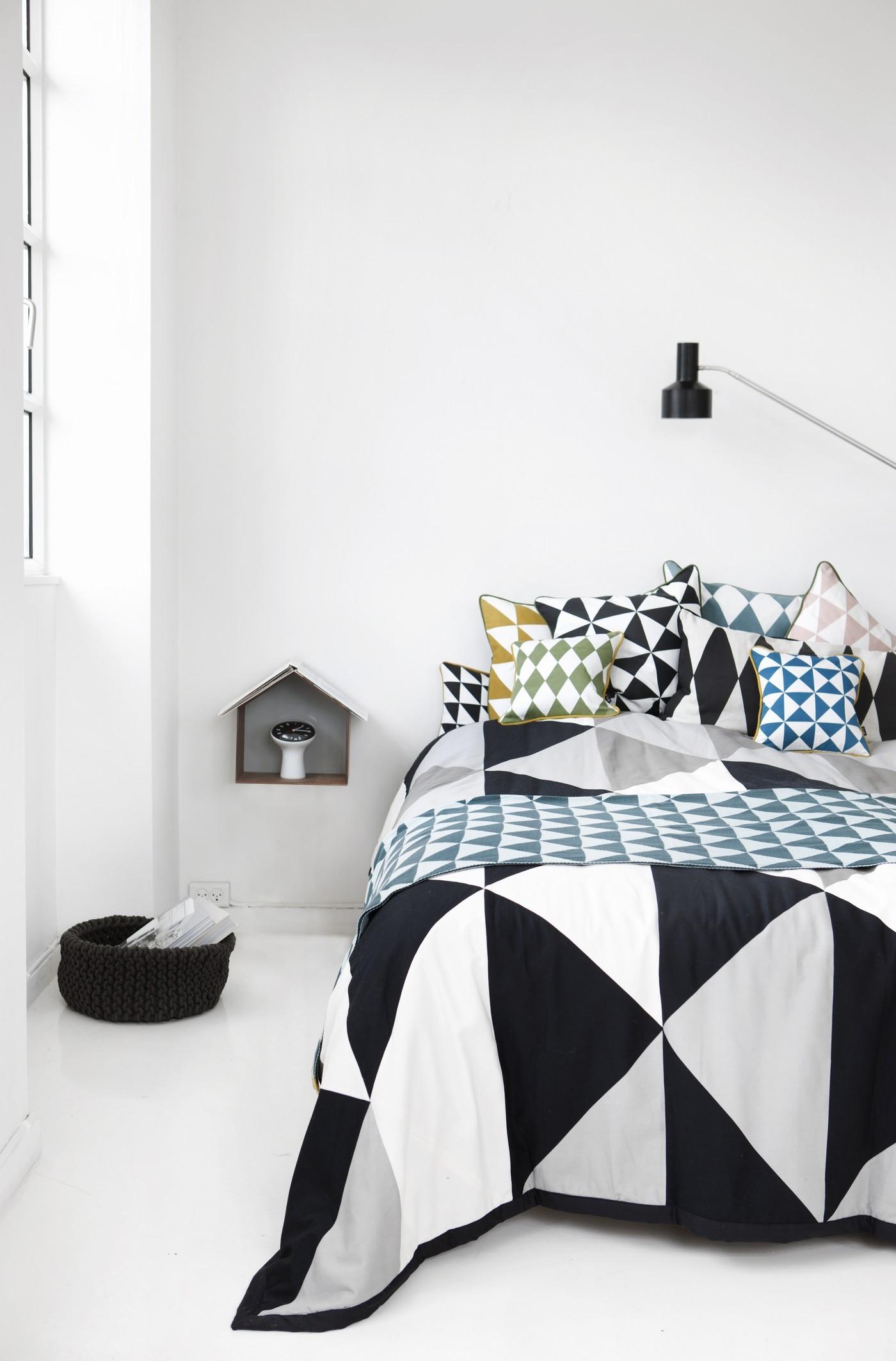 Ferm Living's Geometry cushions, Cloudberry Living