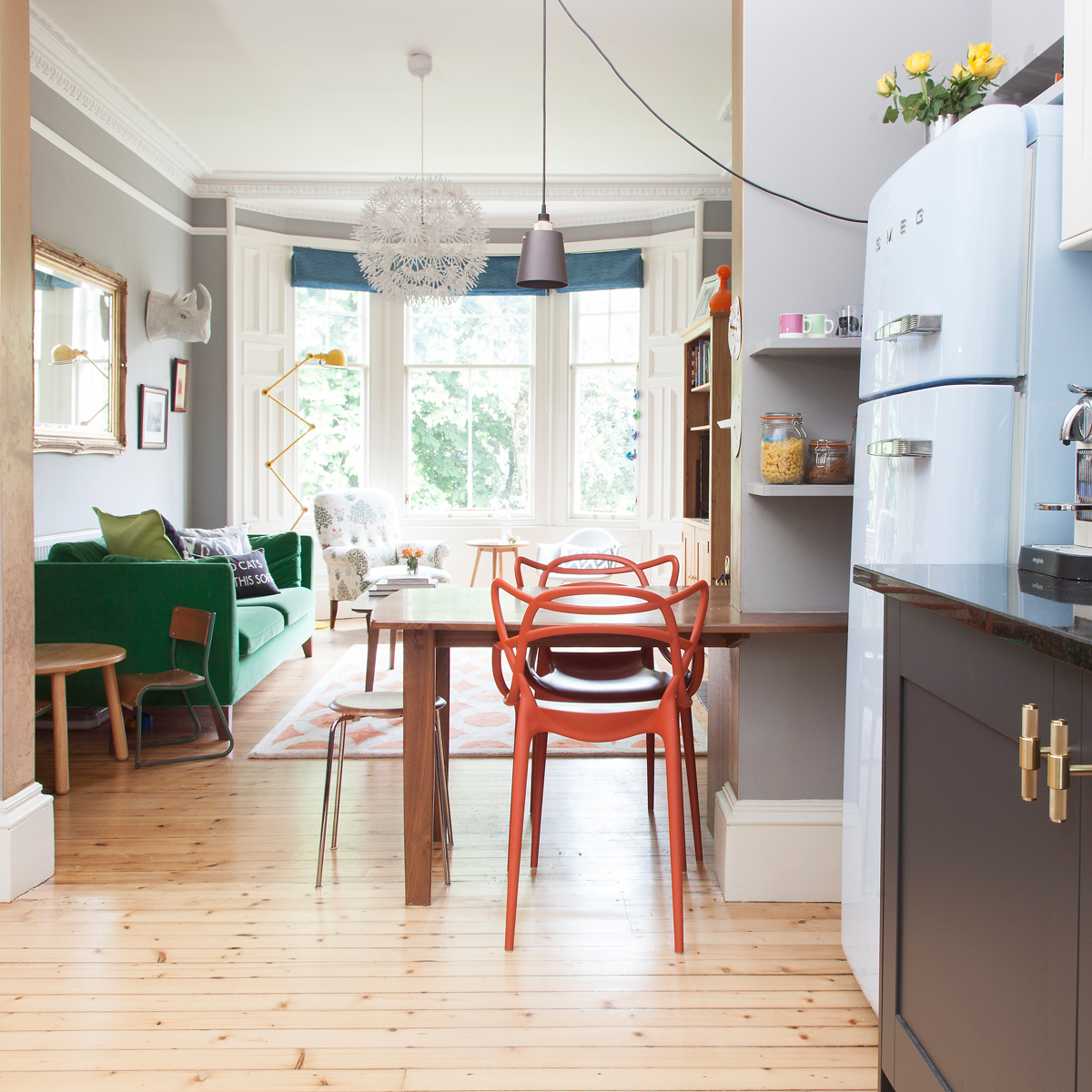 Open plan living at The Pink House/Photo: Susie Lowe