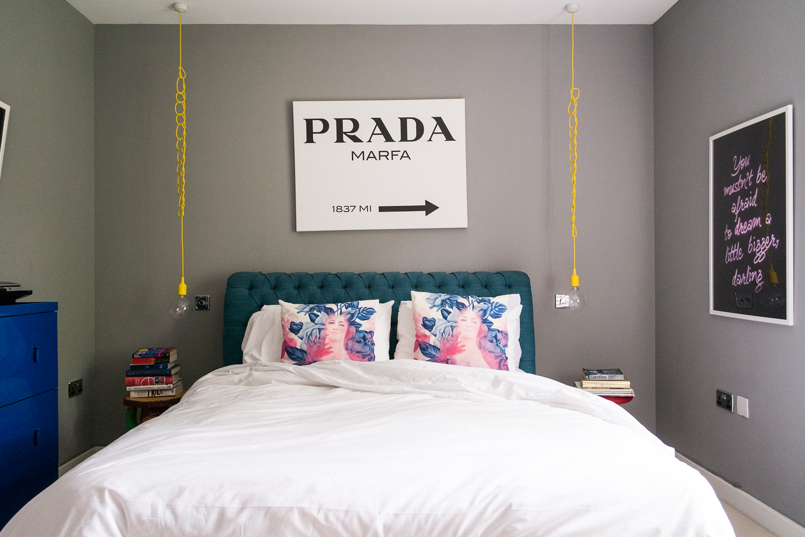 Emilie's bed is WELL comfy. And I know exactly how to get to Prada from here