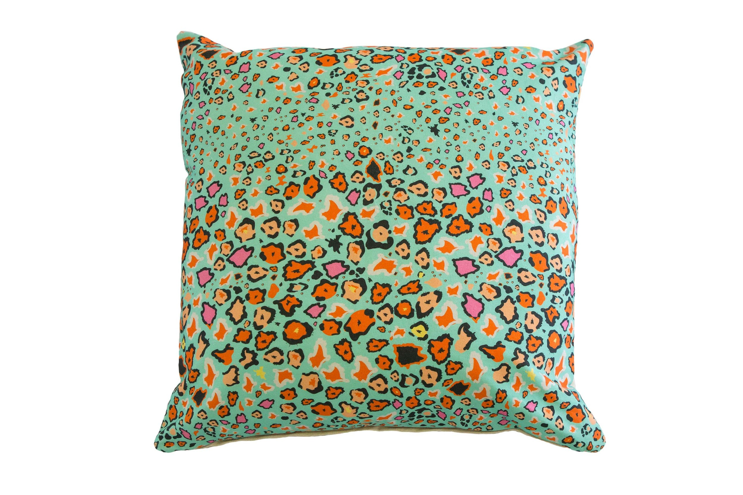 Leopard Lights cushion : leopard print + colour pop = home decor win