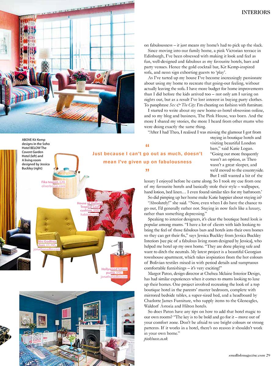 Smallish magazine - feature by Emily Murray