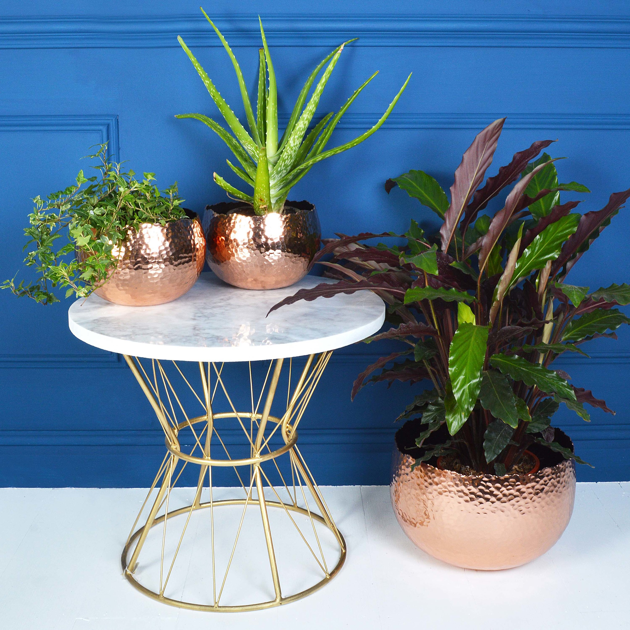 MiaFleur  marble and brass side table