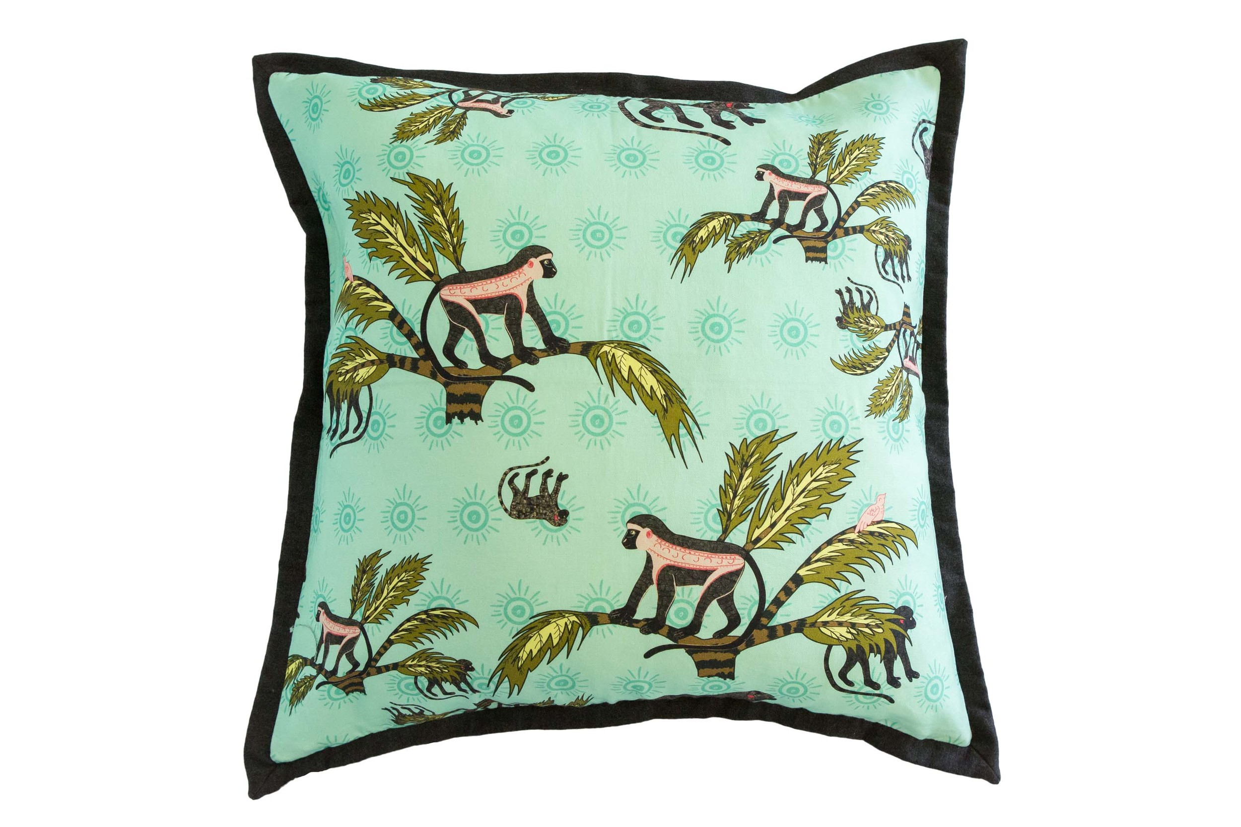 Monkey Palm Oasis  cushion by Halsted