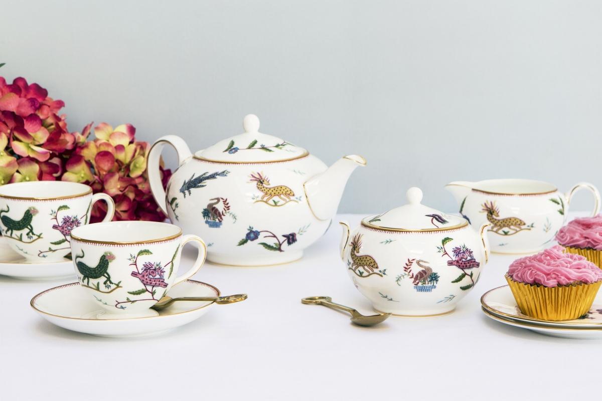 Kit Kemp for Wedgwood 'Mythical Creatures' tea set