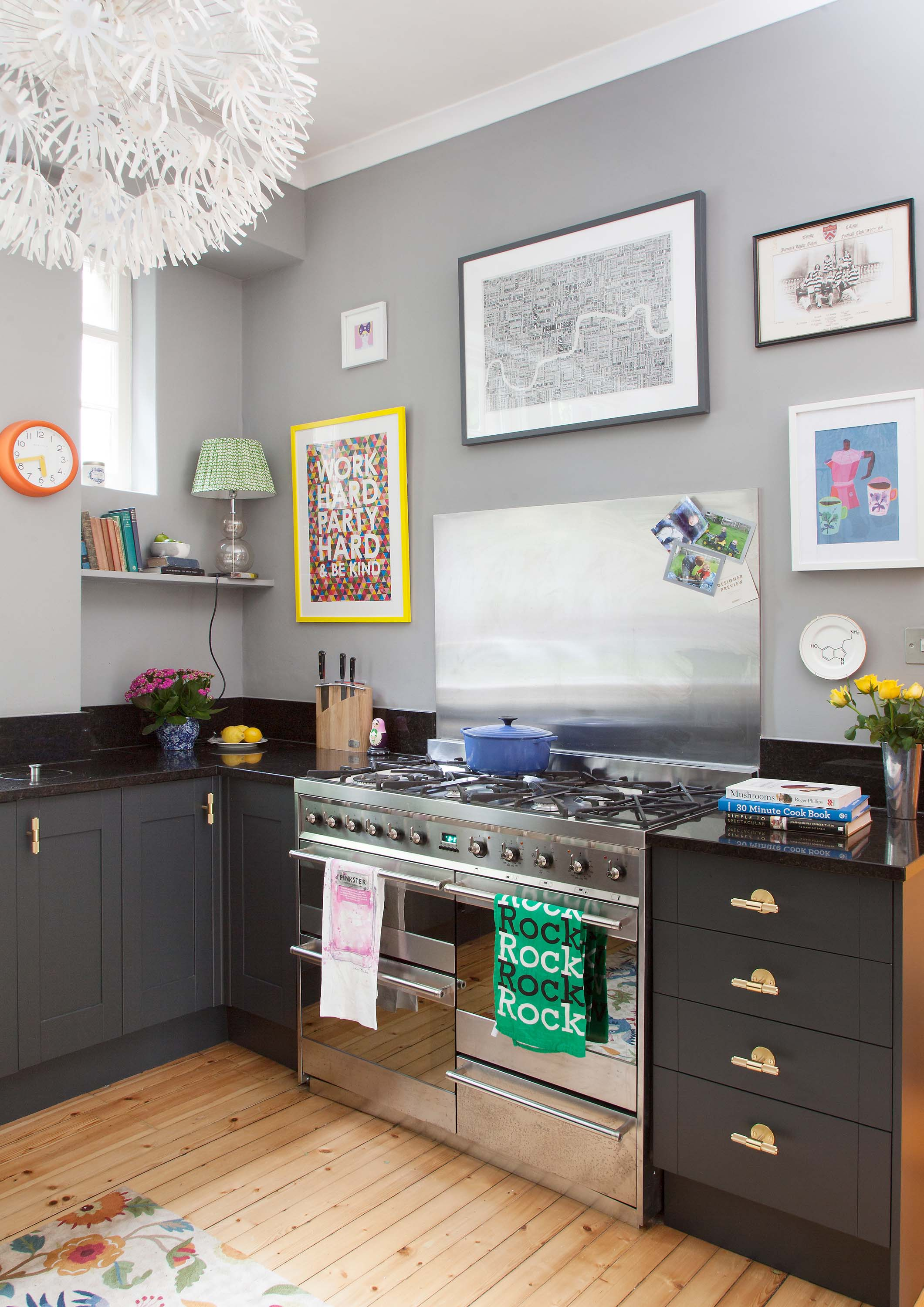 The Pink House kitchen makeover gallery wall
