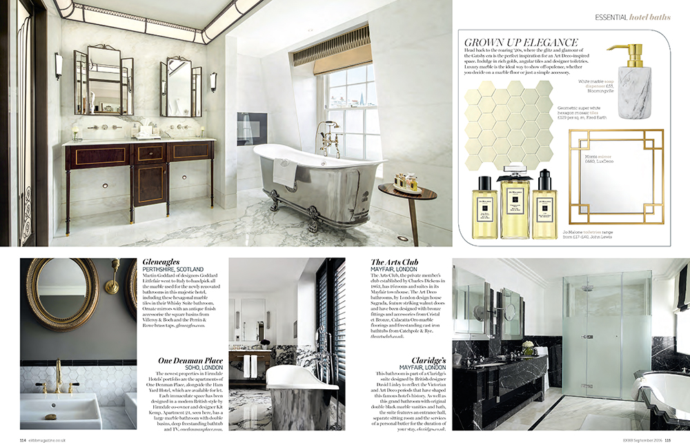 Hotel bathroom style steal by Emily Murray in EKBB magazine