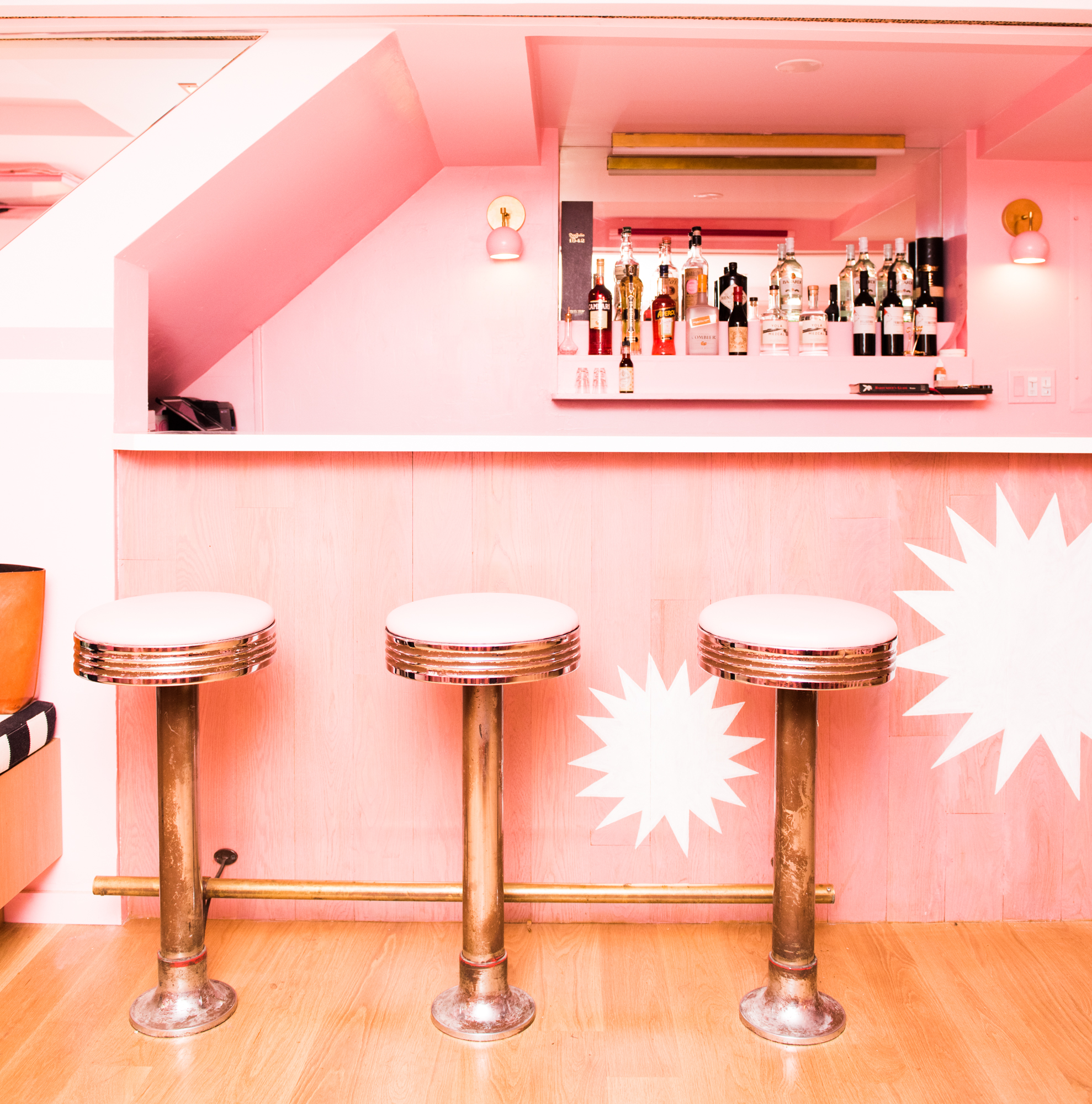 The bar at Pietro Nolita - ours is a strawberry dacquiri/Photo:   Jake Rosenberg   for The Coveteur