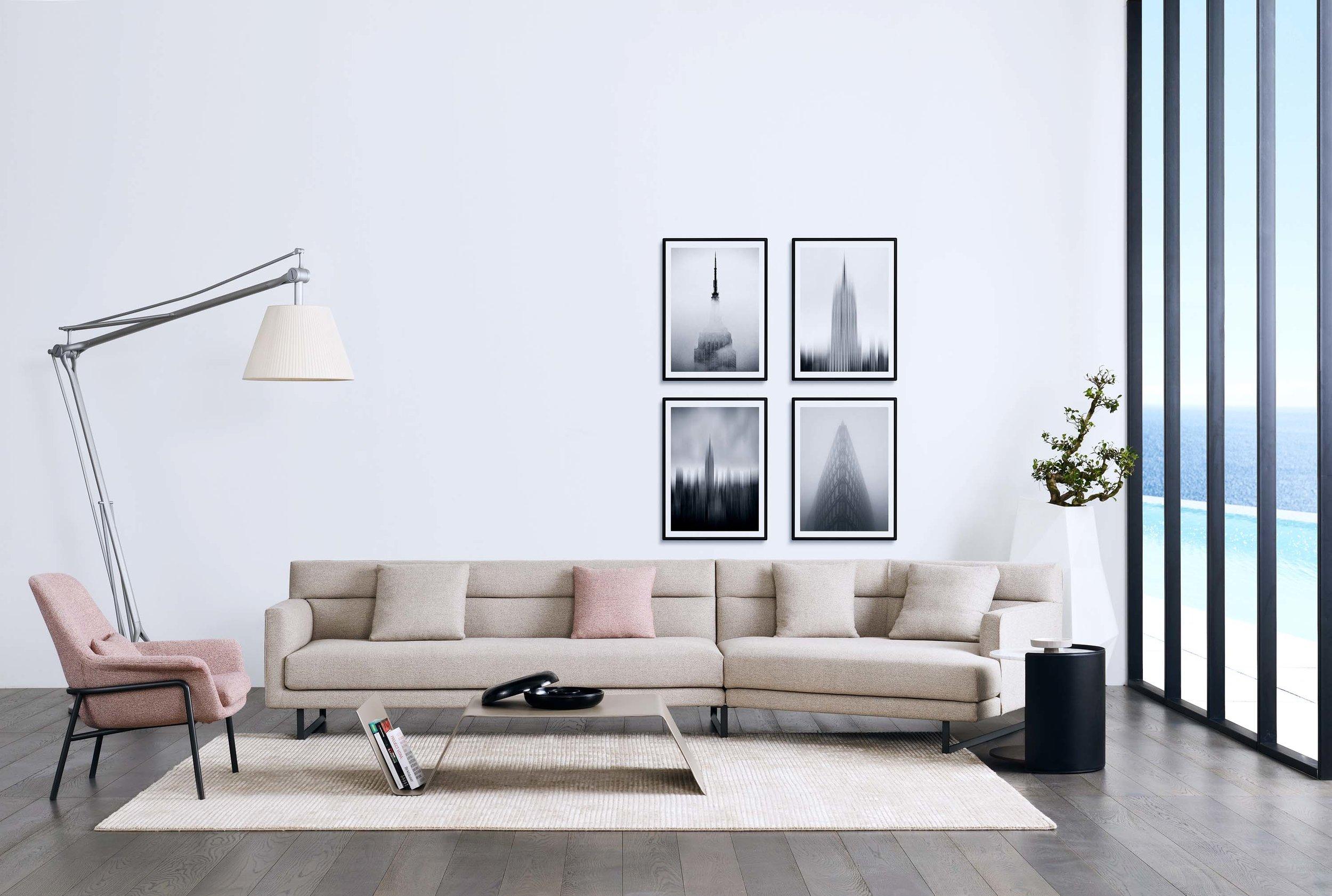 Amor large angular sofa