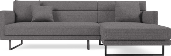 Amor small corner sofa, in Graphite