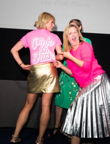 Emily Murray pink as fuck t-shirt Sophie Robinson Amara Interior Blog Awards