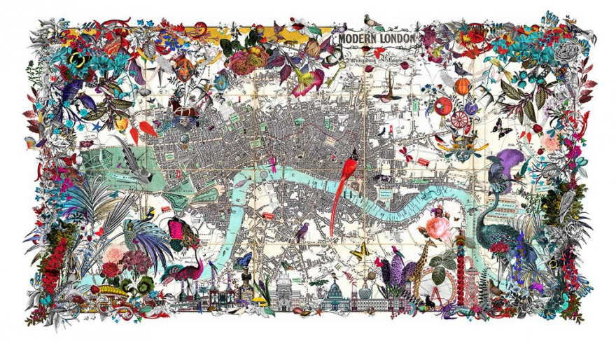 Lulu Guiness Gold London by Kristjana S Williams. I can see the finish line.