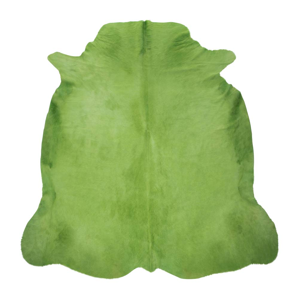 Green cowhide rug A by Amara SS17