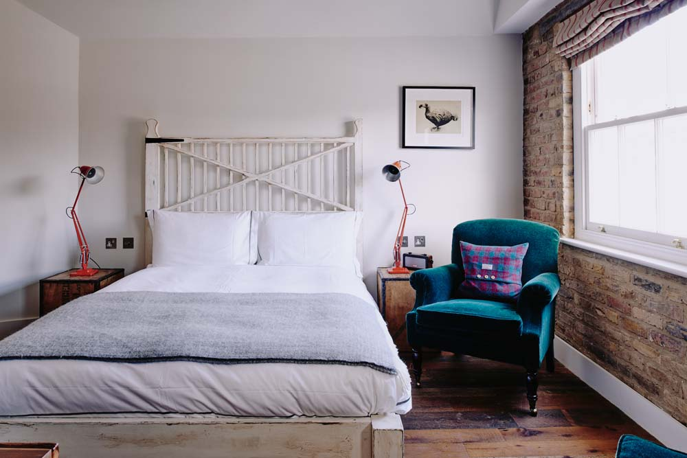 Reclaimed floorboards in Artist Residence London