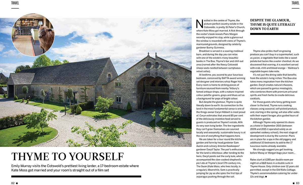 Thyme England in Southrop, the Cotswolds review