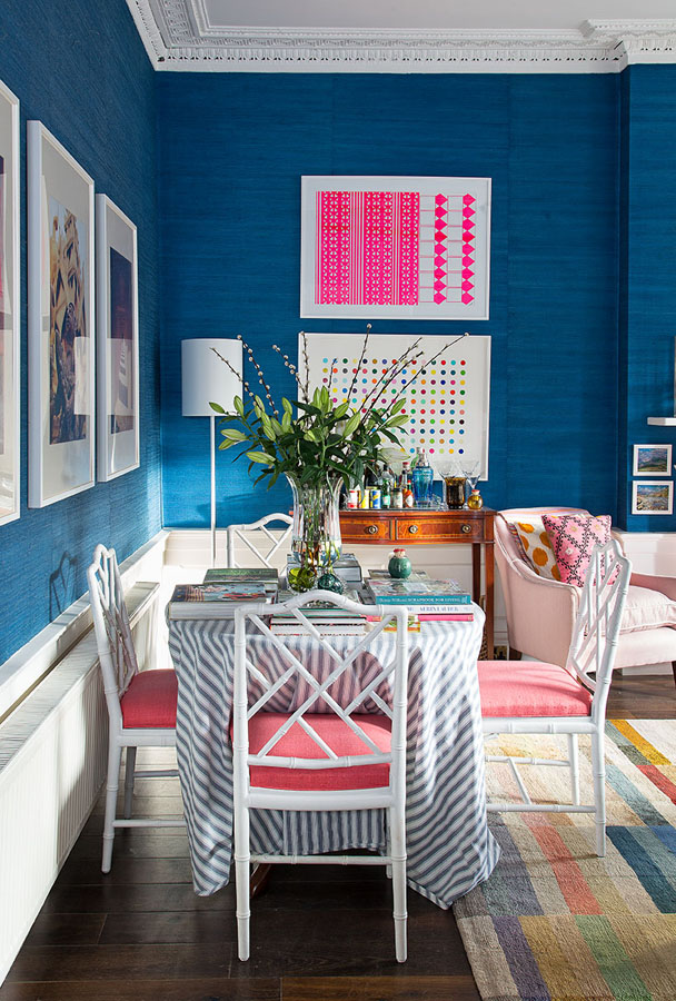 Jessica painted and re-upholstered these second-hand chairs