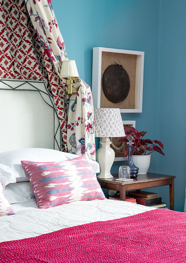 Ikat cushions add a finishing touch