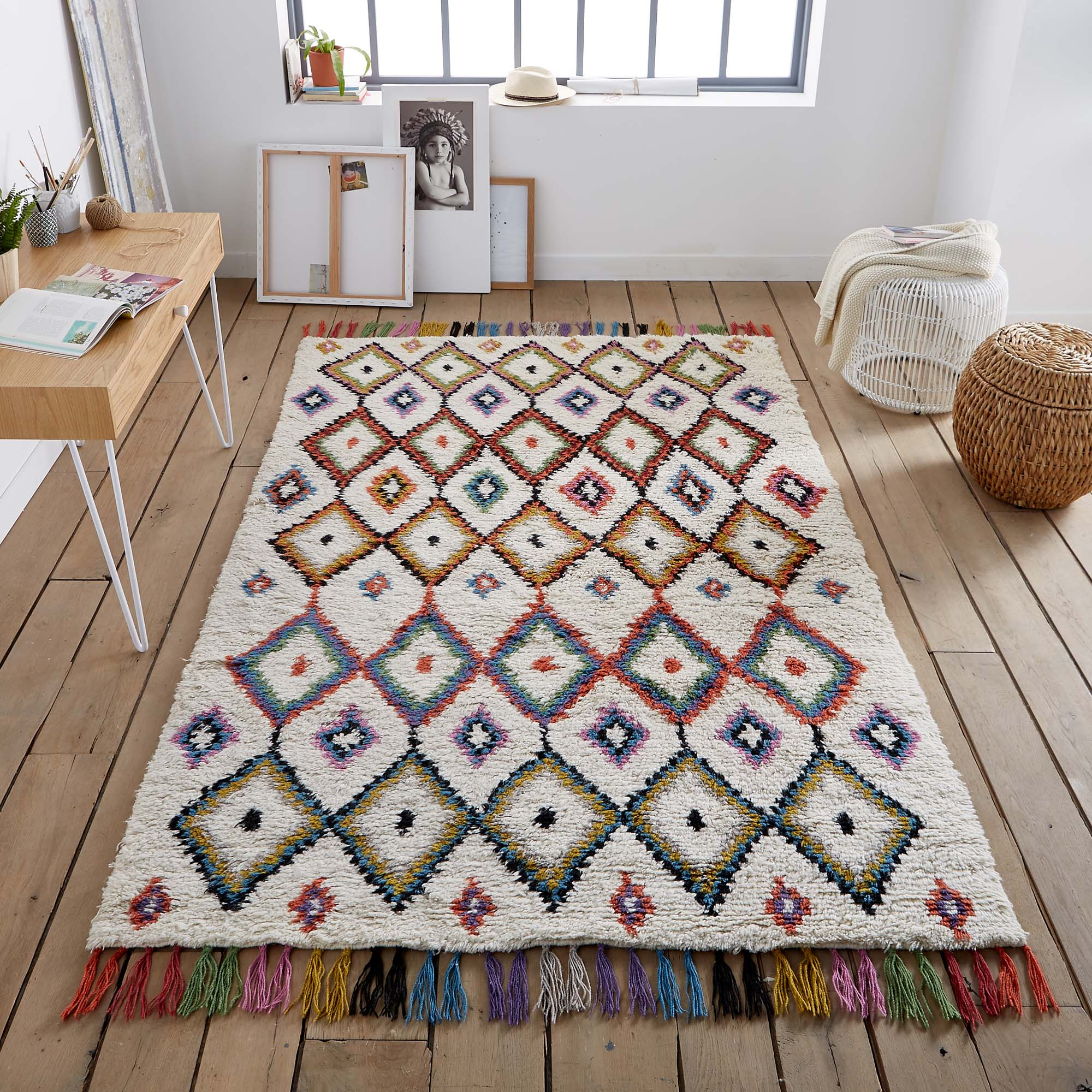 La Redoute colourful Moroccan rug