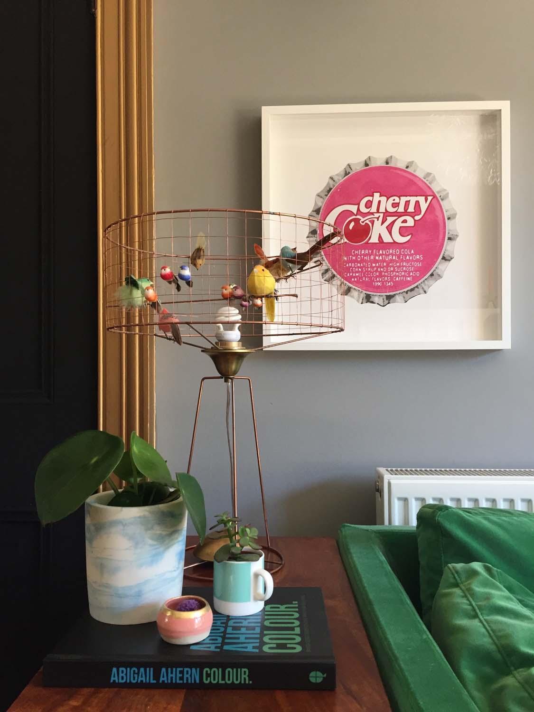 Birdcage lamp, Graham & Green; plant pot, La Redoute