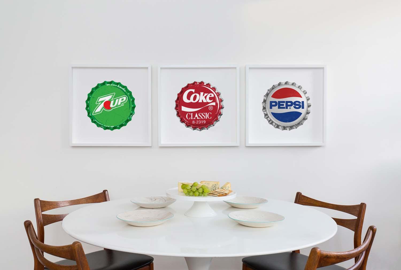 Tom's pic of three of his prints